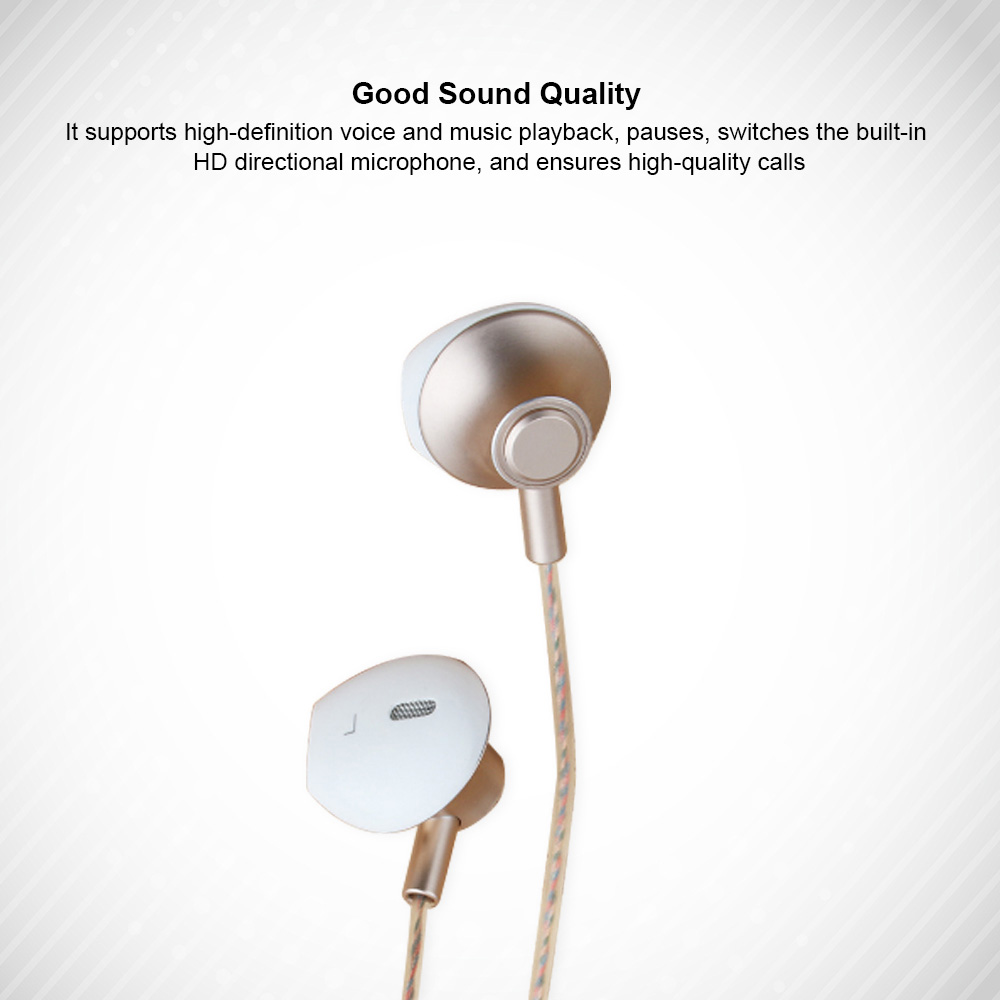 In-Ear Mobile Phone Headset, Line-controlled Dynamic Ring Music Headset 1