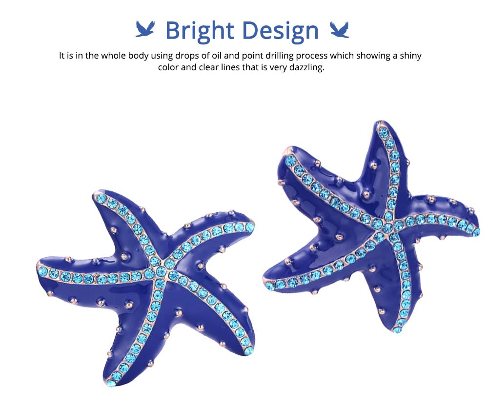 Swarovski Starfish Brooch, Marine Style Diamond-Encrusted Starfish Brooch 5