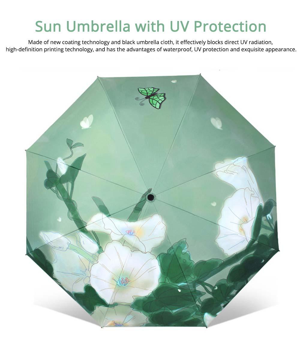 Rain and Sun Dual-use Sunscreen Black Umbrella UPF 50+ 0