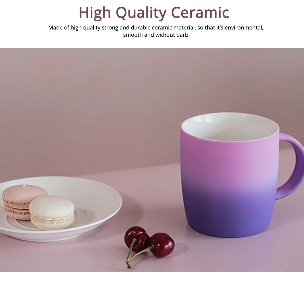 Elegant Porcelain Coffee Mug, Gradient Color Matte Ceramic Tea Cup 2