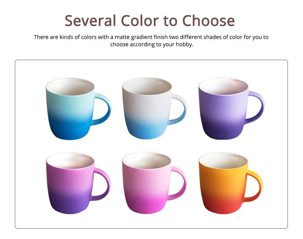 Elegant Porcelain Coffee Mug, Gradient Color Matte Ceramic Tea Cup 1