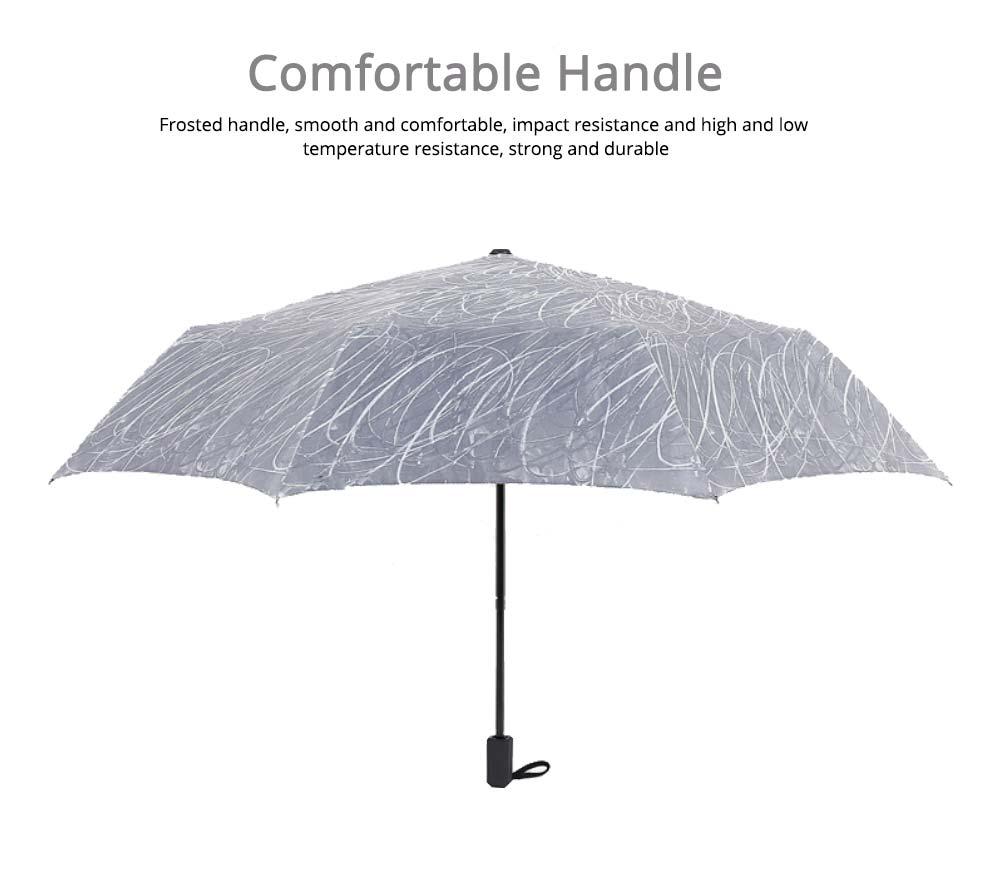 Compact Travel Graffiti Umbrella, 3 Folds Auto Open Close Vinyl Umbrella 5
