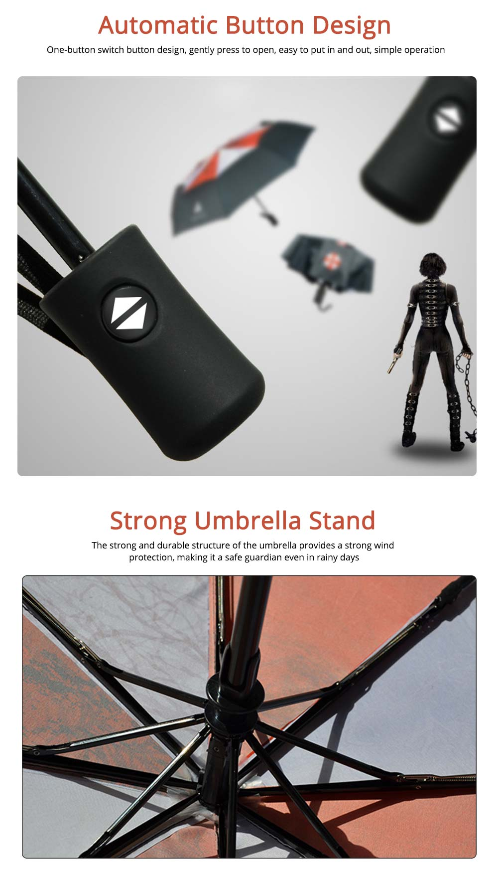 Resident Evil Protection Umbrella, Printed Rainy and Sunny Umbrella 2