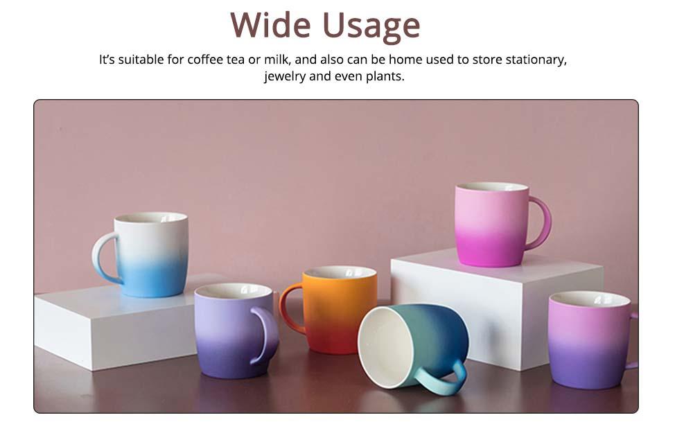 Elegant Porcelain Coffee Mug, Gradient Color Matte Ceramic Tea Cup 3