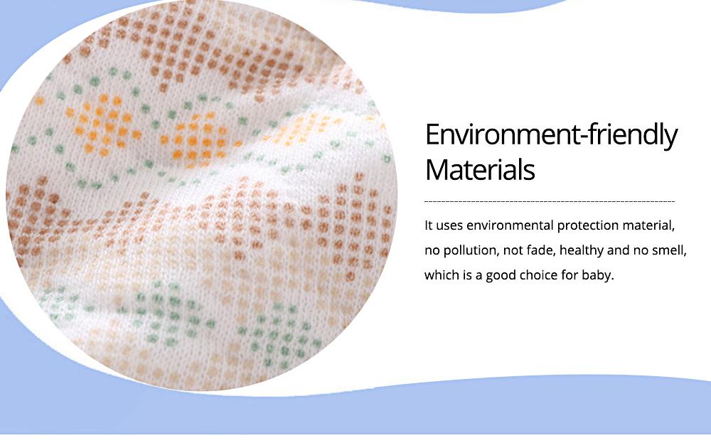 Baby's Double-layer Pure Cotton Waterproof Flower Bib, 360° Rotating Children's Saliva Towel 6