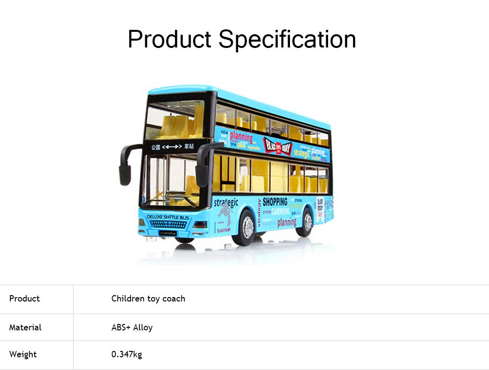 City Bus Model Toy Car, Simulation Alloy Model Toy Coach for Children 5