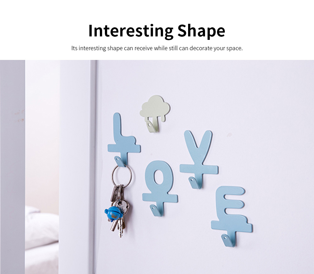 IN Creativity Glue Hook, Nail Free Super Strong Sticky Cute Hanger for Dormitory Wall Door Decoration Hanging Hook 2
