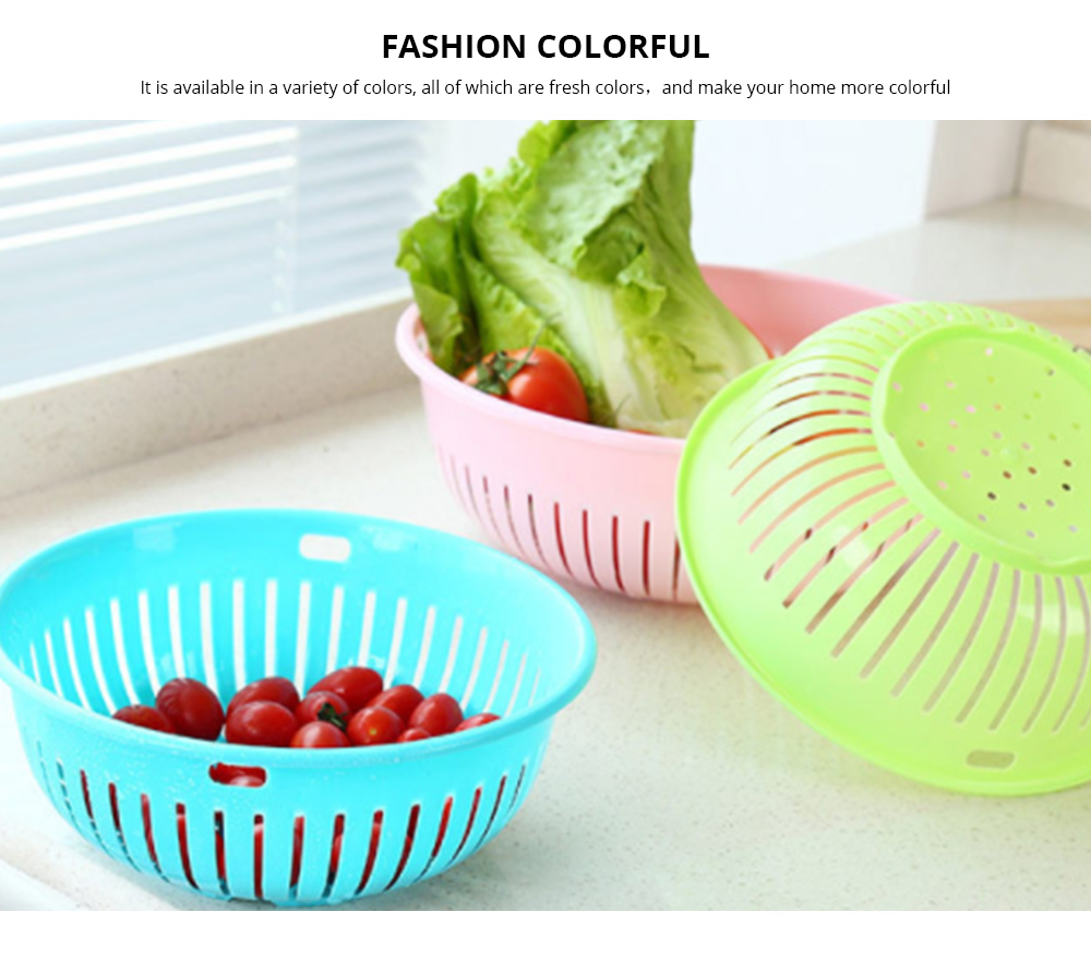 Plastic Drain Washing Basket, Vegetables And Fruit Drain Basket, Storage Container 2