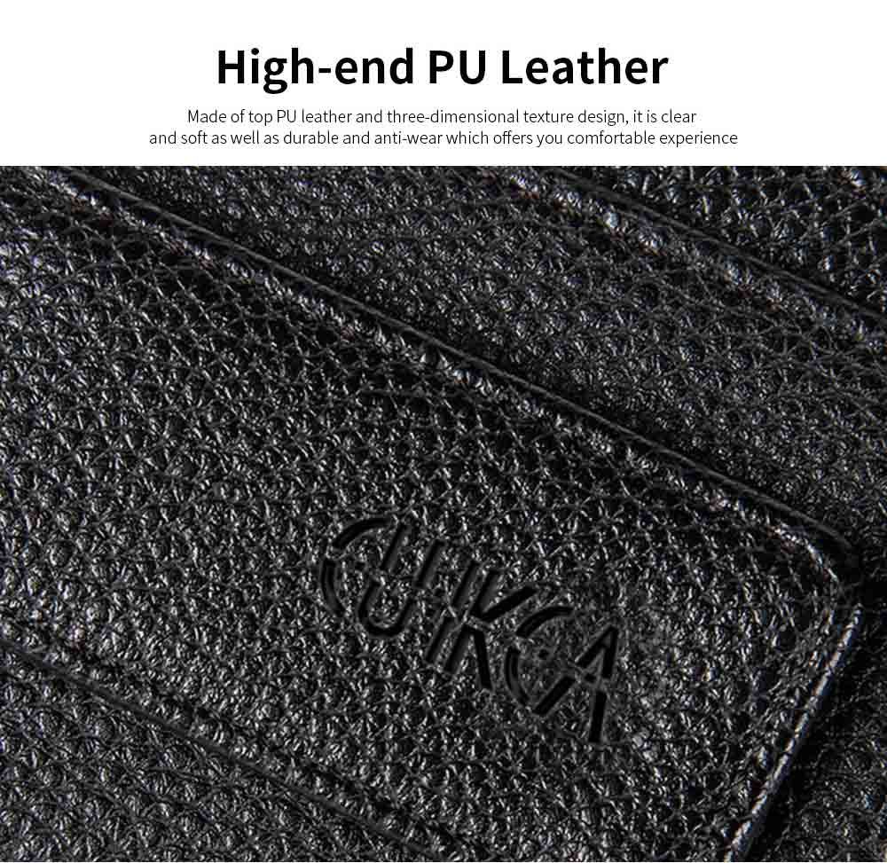 PU Leather Men's Short Wallet with Multi-card And Two-fold, Magnetic Buckle Coin Purse Card Holder Cash Purse 9