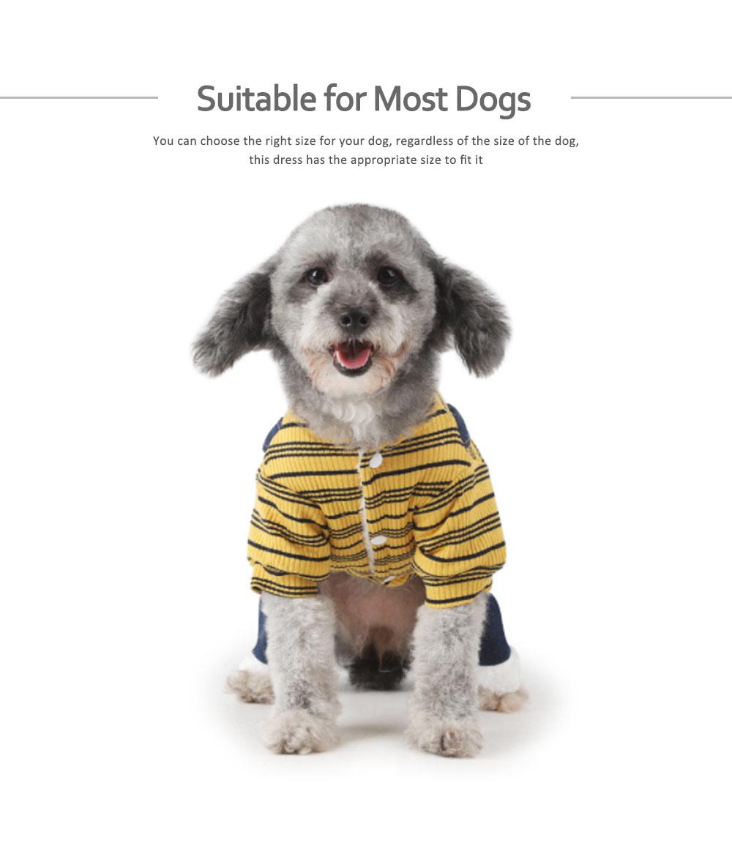 Thick Warm Jeans Pet Clothes, Four-legged Dog Clothes 5
