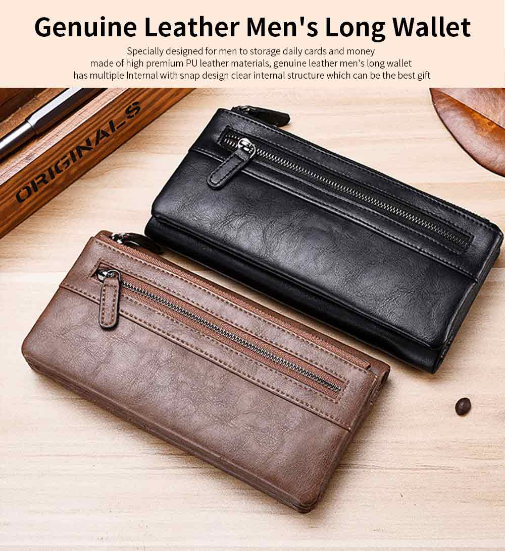 Youth Leather Wallet, Ultra-Soft Lightweight Men'S Long Wallet For Money Credit Card 0