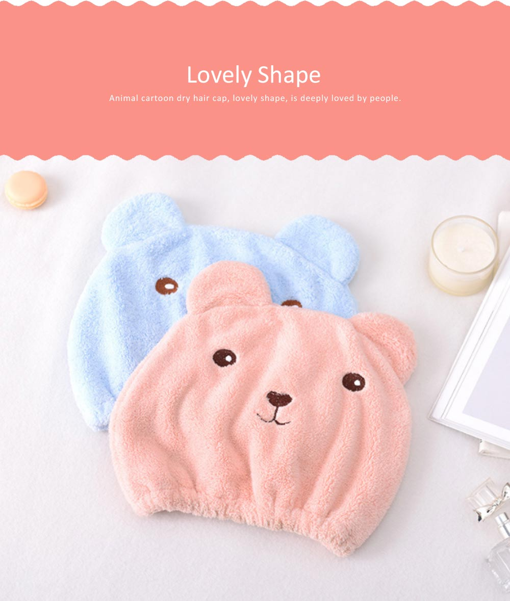 Super Strong Hair Quick-drying Cap, Cute Adult Thick Absorbent Water Shower Cap 4