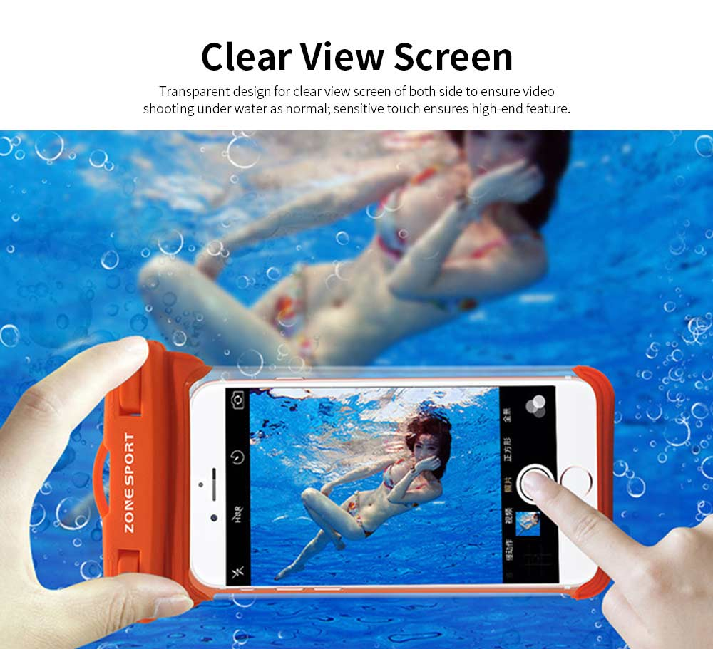 Waterproof Touch Screen Phone Case, Transparent Water Resistant Phone Case For Outdoor Activity 5