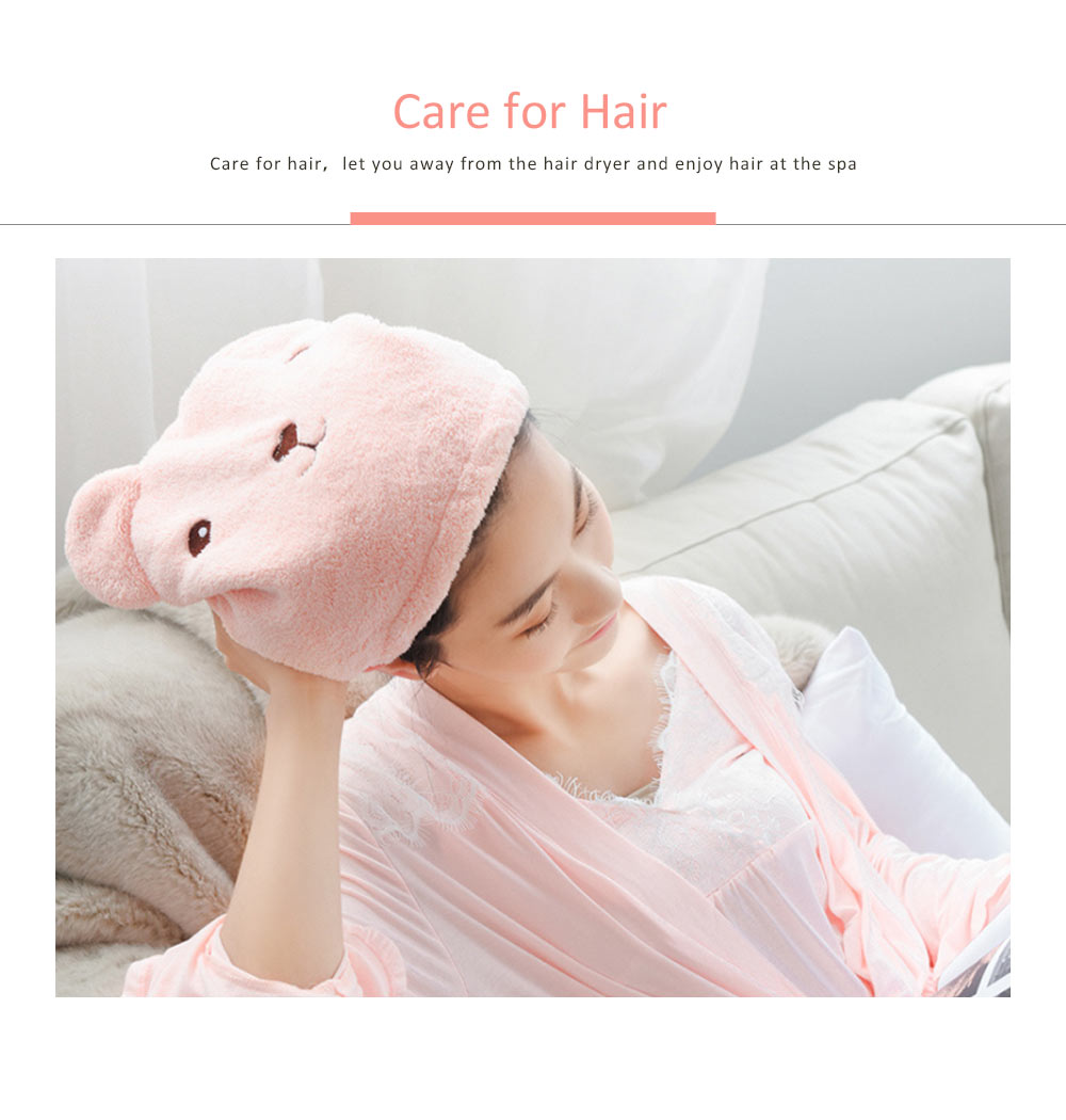 Super Strong Hair Quick-drying Cap, Cute Adult Thick Absorbent Water Shower Cap 3