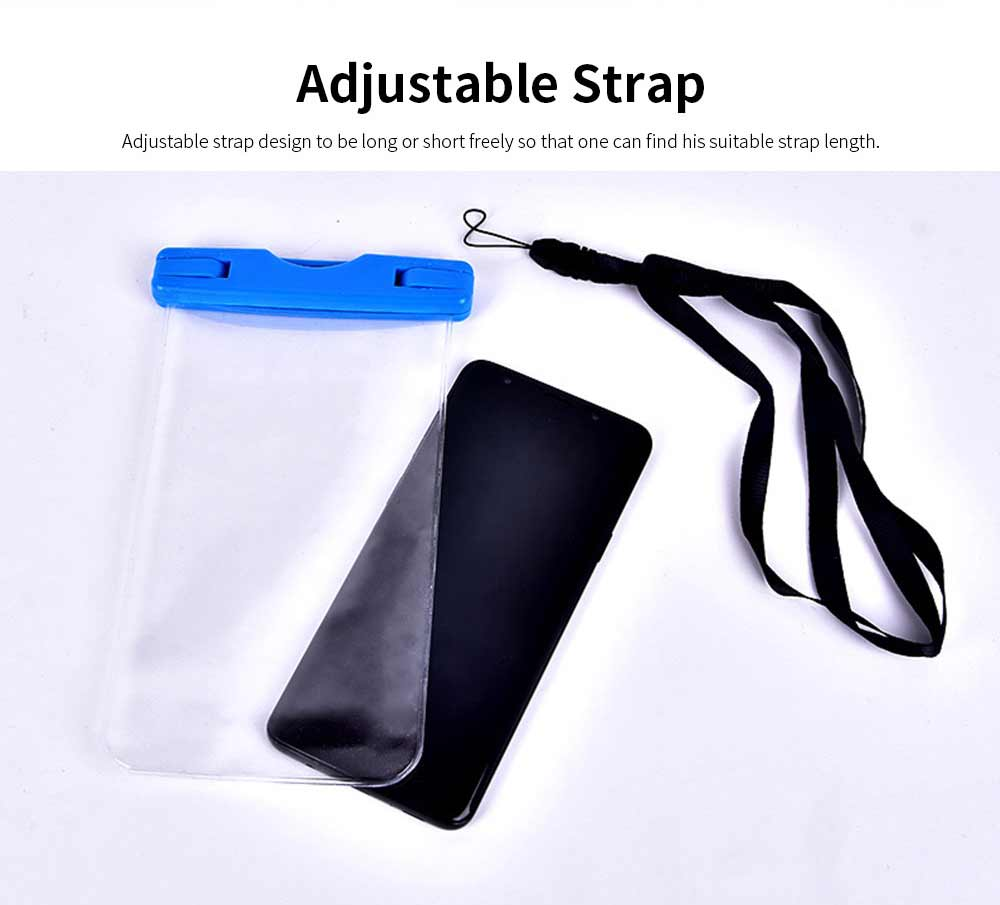 Waterproof Phone Case For Swimming, Transparent PVC Smart Phone Case 6-Inch 5
