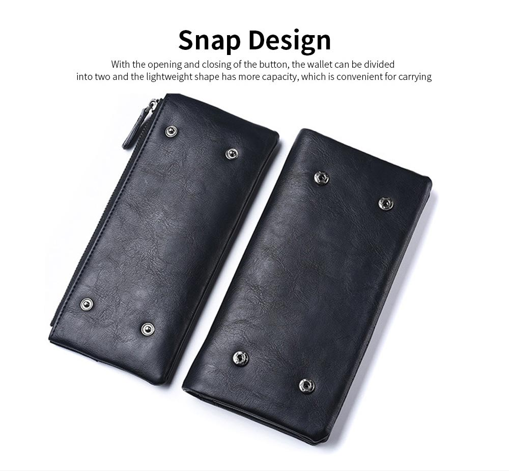 Youth Leather Wallet, Ultra-Soft Lightweight Men'S Long Wallet For Money Credit Card 3