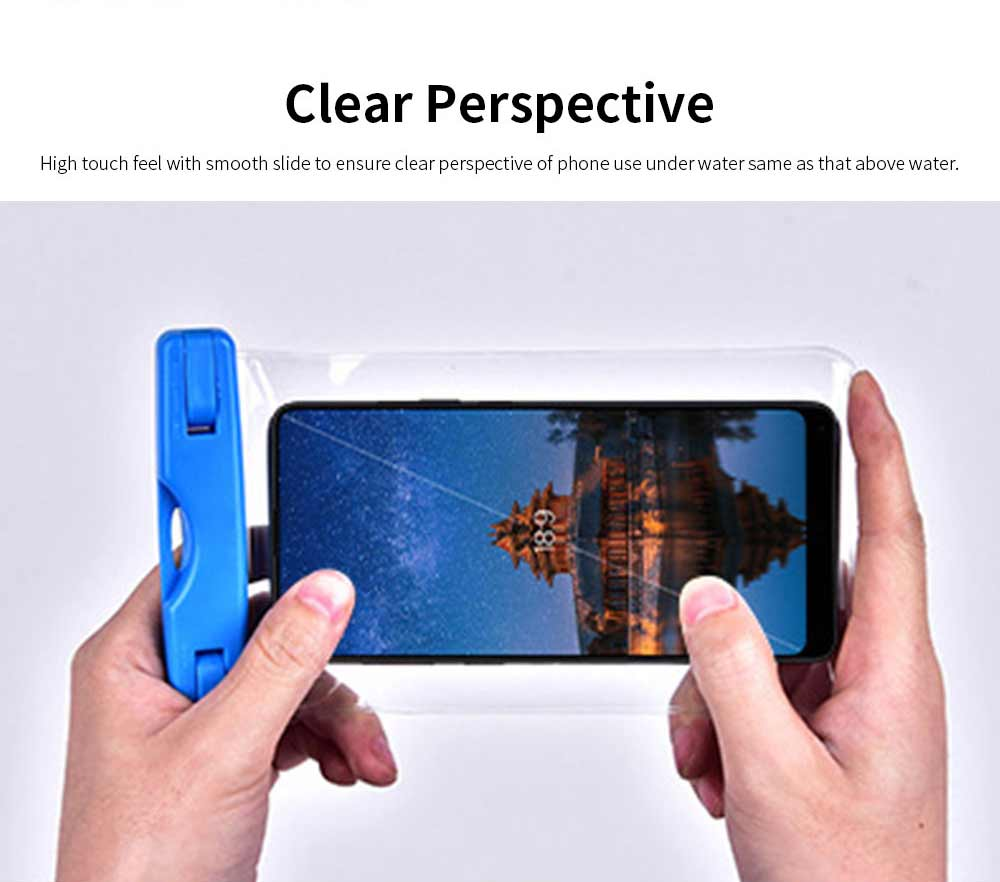 Waterproof Phone Case For Swimming, Transparent PVC Smart Phone Case 6-Inch 3