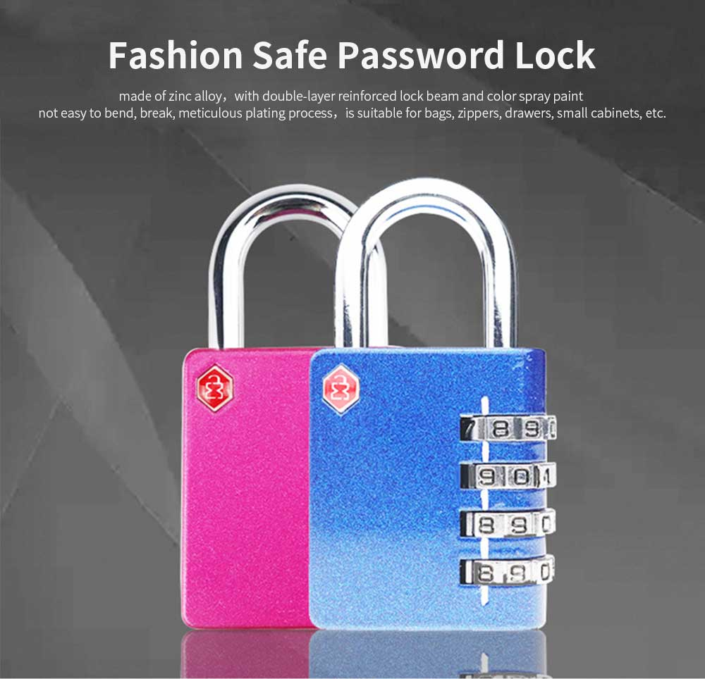 Zinc Alloy Password Lock For Suitcase, Gym Student Dormitory Drawer Cabinet Anti-Theft Password Lock 0