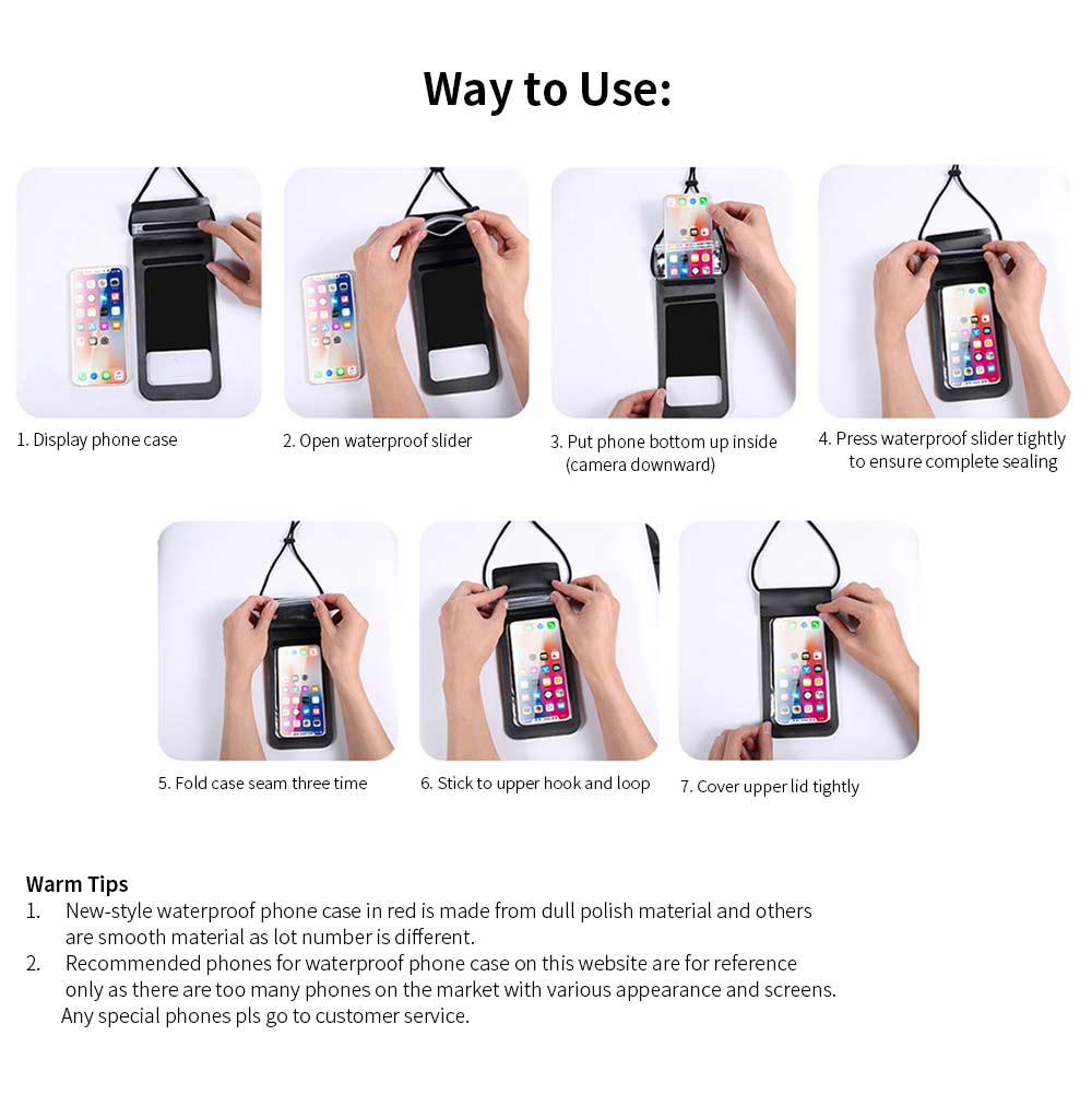 Waterproof Diving Phone Case, Touch Screen Best Waterproof Phone Cases for Underwater Photography 9