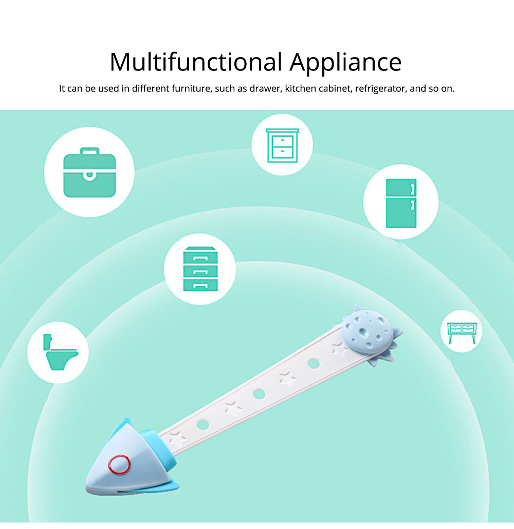 Cartoon Baby Anti-pinch Lock, Multifunctional Baby Anti-open Lock for Refrigerator, Cabinet, Door 5