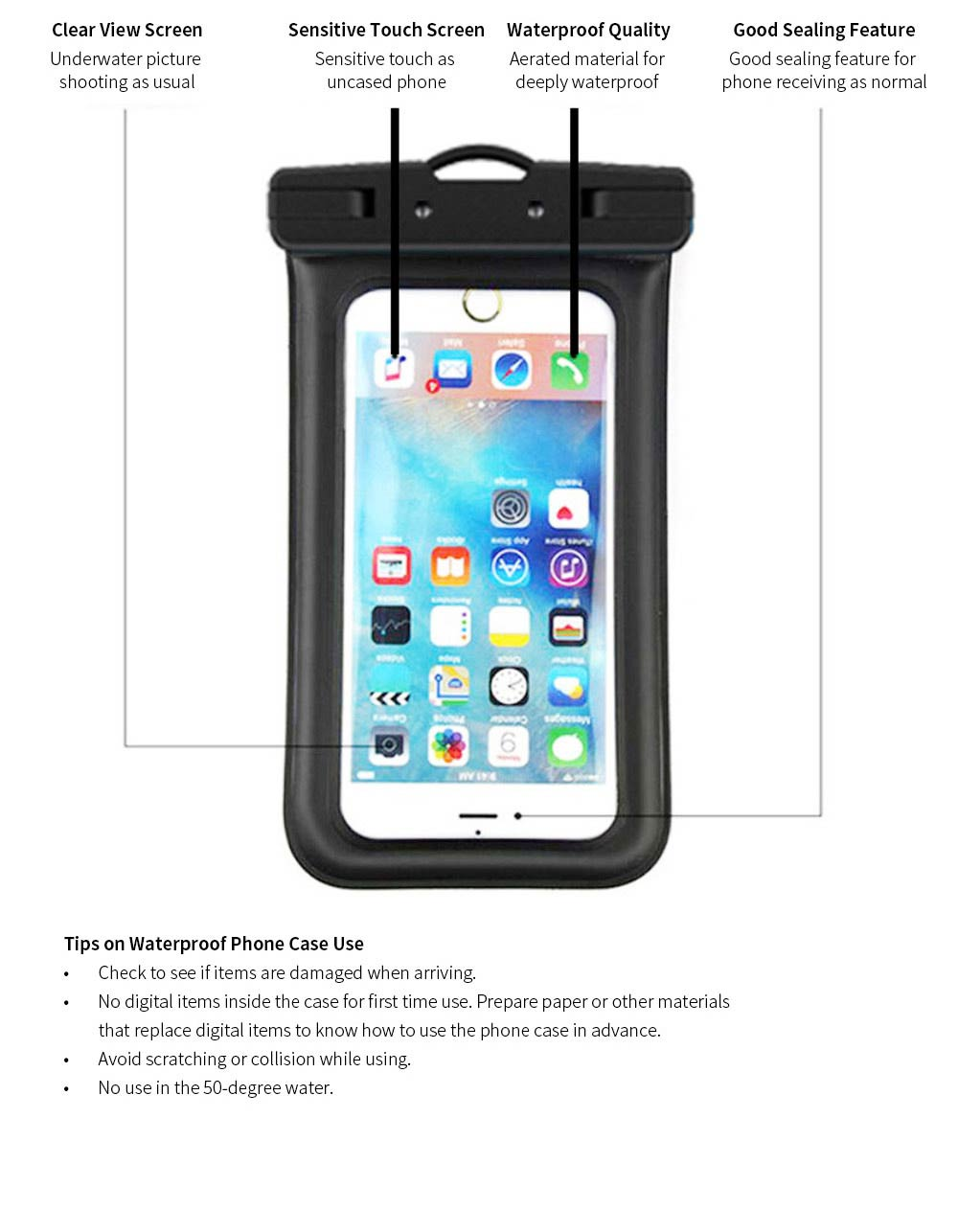 Water Resistant Cell Phone Case, Best Waterproof Floating Phone Pouch 2019 8