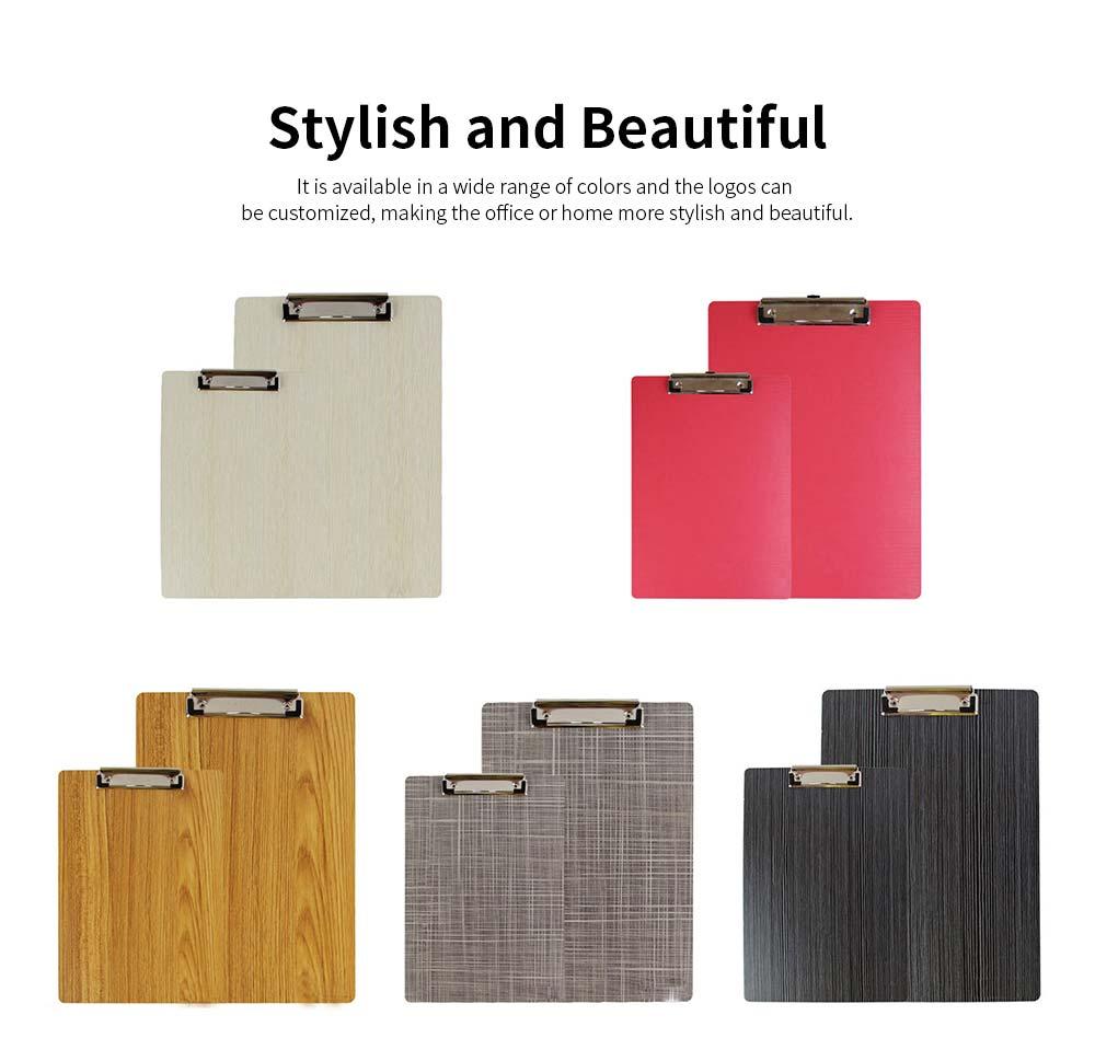 A4 Wooden File Folder, Wooden Board Notepad Desktop Document Holder 5