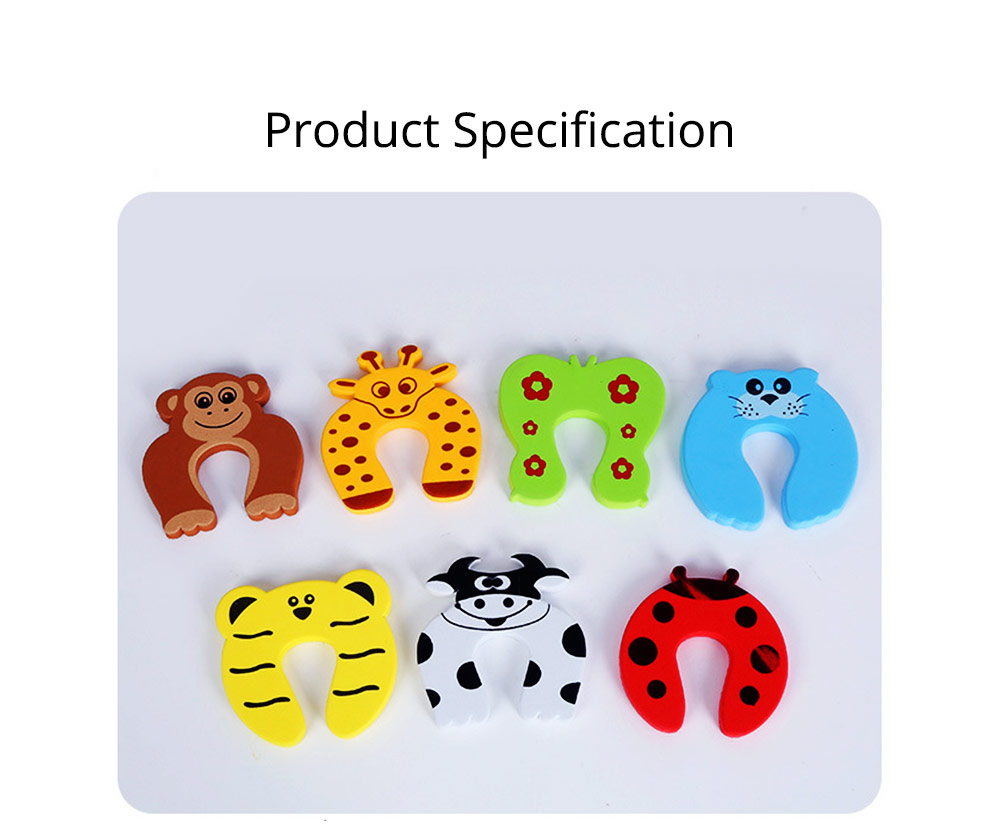 Baby Safety Door Card, Cartoon Creative EVA Windproof Anti-clip Door Stopper for Baby Pinch Guard 15