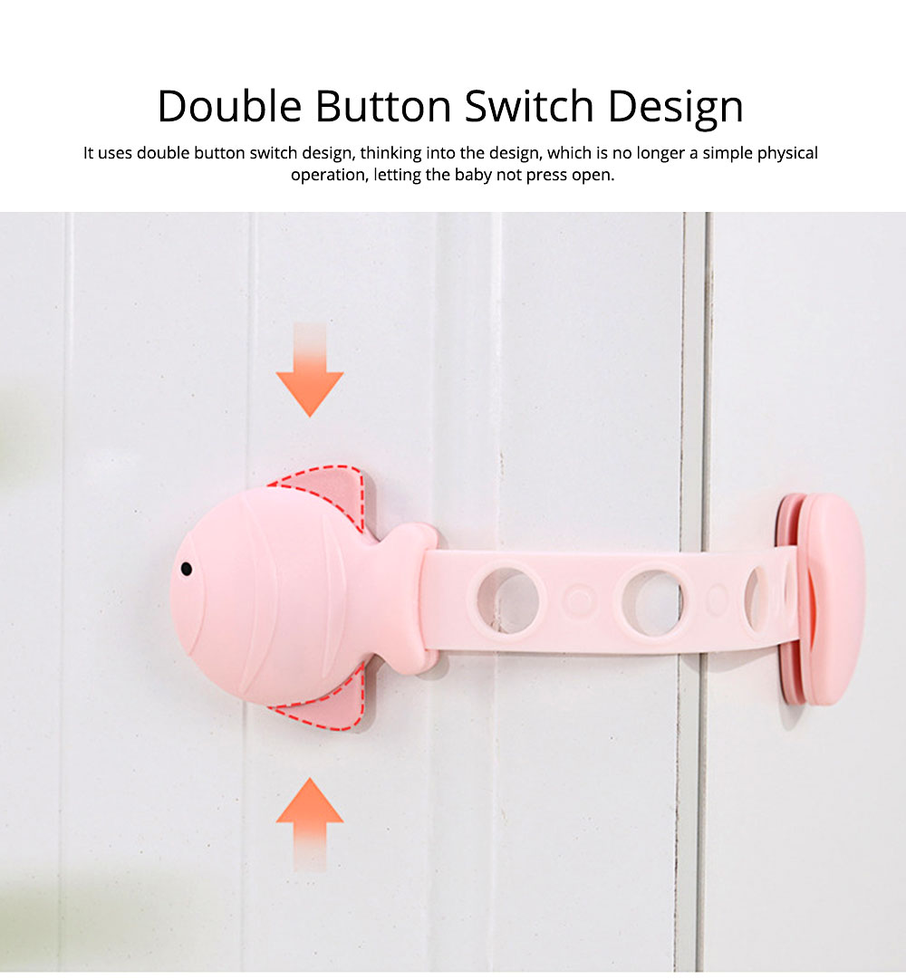 Children's Multifunctional Safety Lock, Anti-pinch Lock for Drawer, Cabinet Door, Refrigerator, Toilet 1