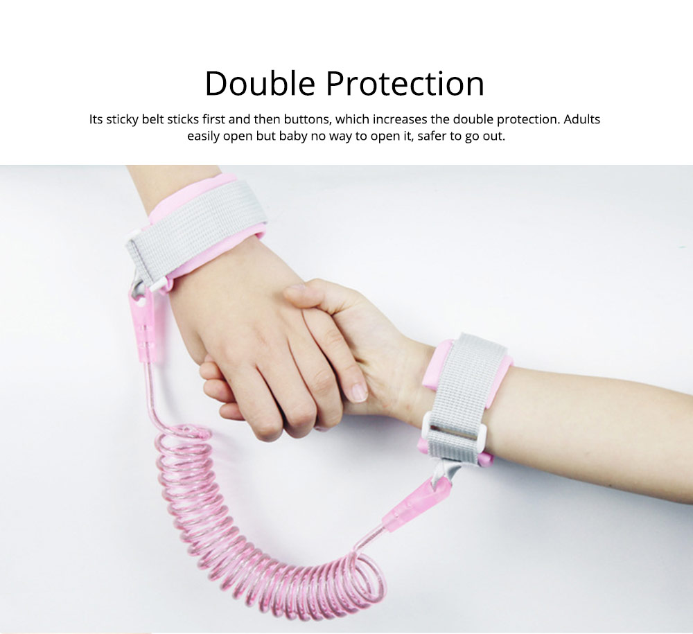 Double Protection Children's Anti-lose Traction Rope, Baby Anti-lost Seat Belt 4