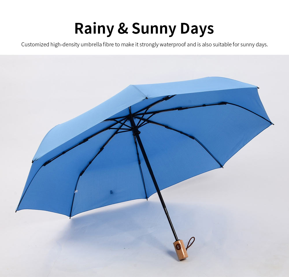 Automatic Open Close Umbrella, Triple Folding Umbrella With Strong Windproof 2