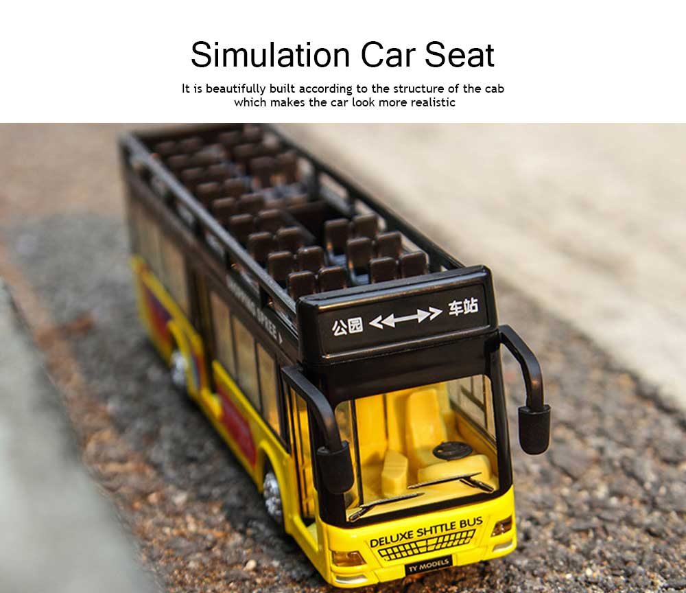 City Bus Model Toy Car, Simulation Alloy Model Toy Coach for Children 1