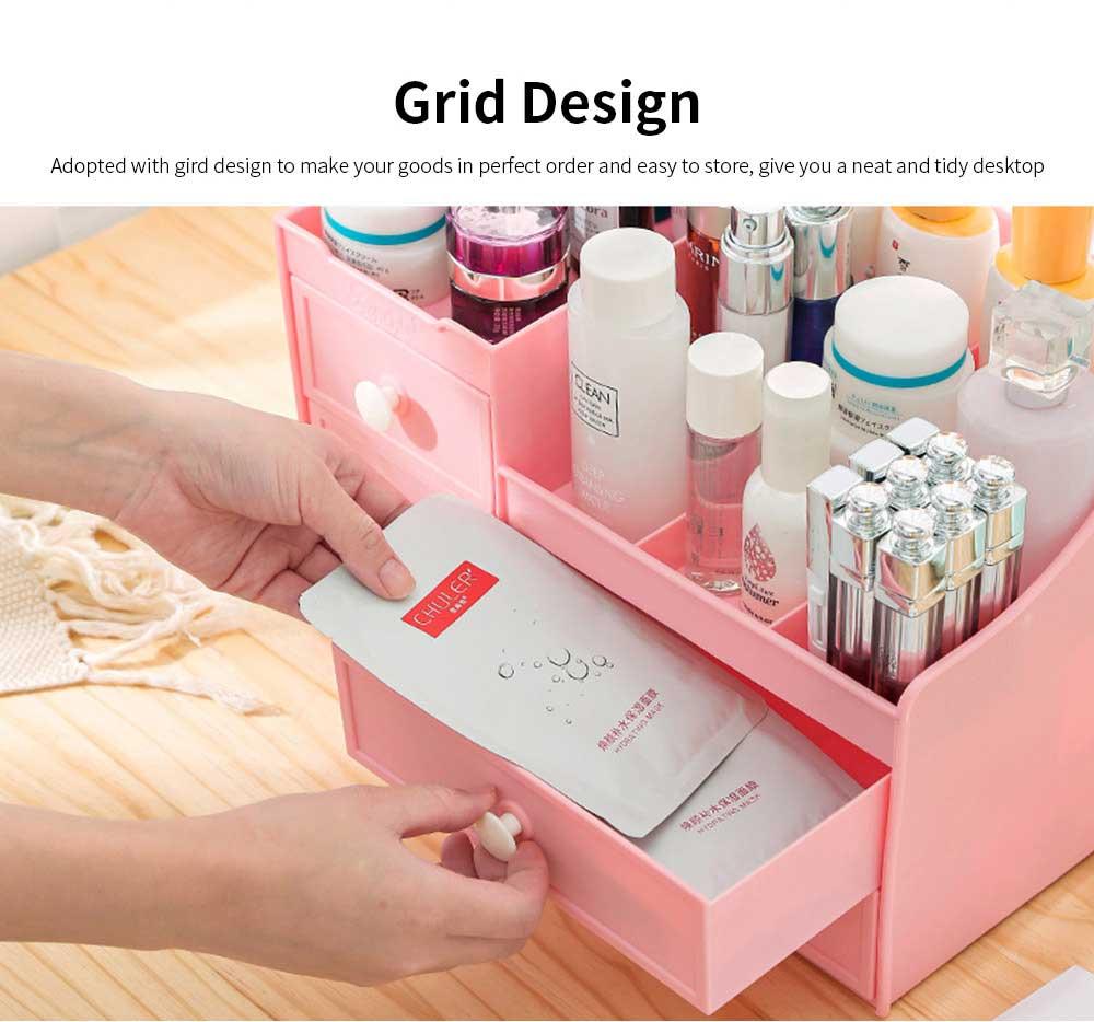 Drawer & Makeup Storage Organizer for Desk, Mask Lipstick Makeup Tools Organizer 4