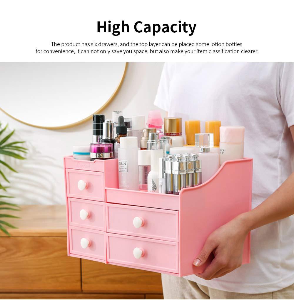 Drawer & Makeup Storage Organizer for Desk, Mask Lipstick Makeup Tools Organizer 2