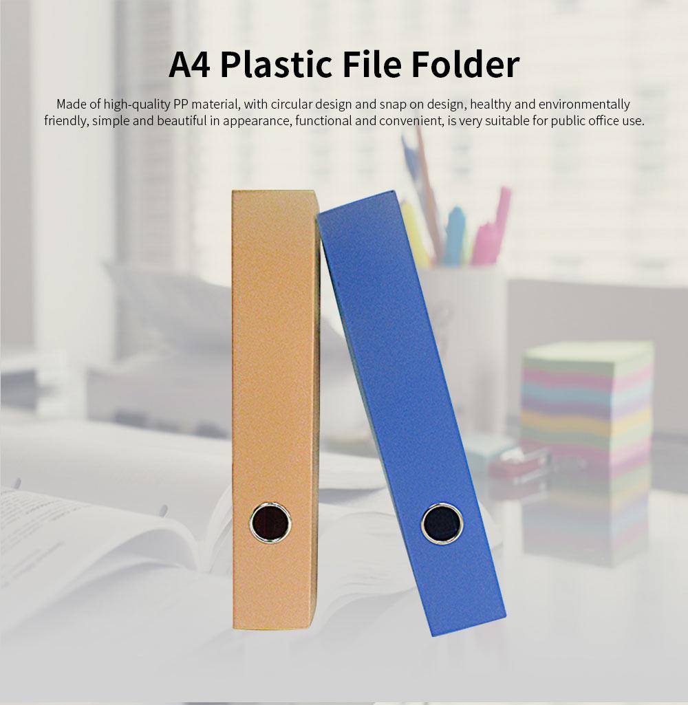 A4 Plastic File Folder, Blue Hanging File Folders, 2.1inch 0