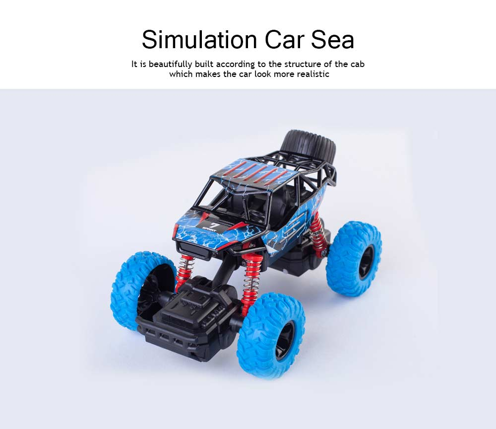 Off-road Vehicle Children's Toy Car, Q Version Cartoon Simulation Spring Shock Big Foot Four Wheel Climbing Car 1