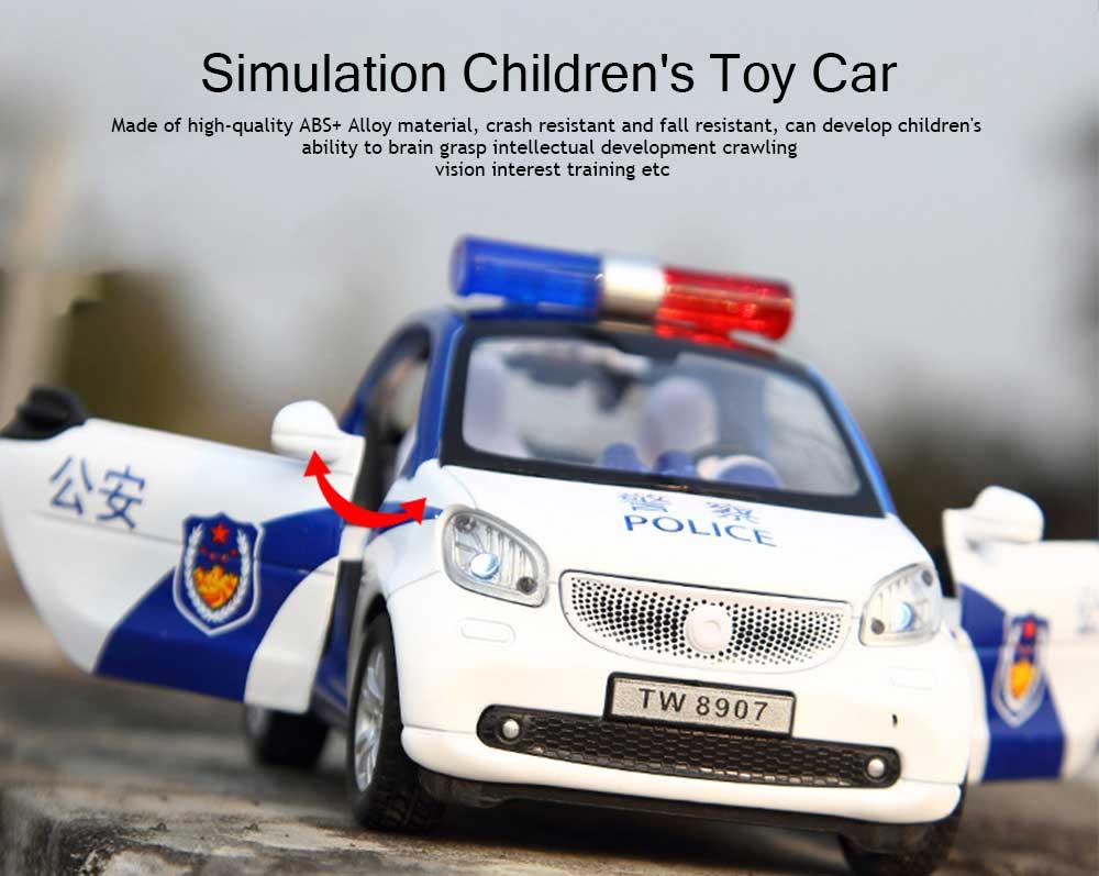 Simulation Children's Toy Car, Toy Ambulance, Police Car, Pull Back Car 0