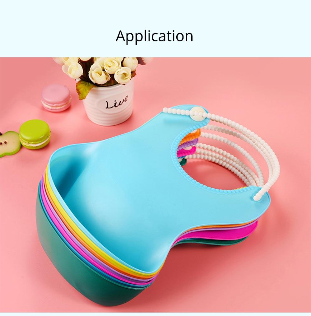 Soft PEVA Waterproof Baby's Bib, Breathable Pocket Groove Bib for Baby 6