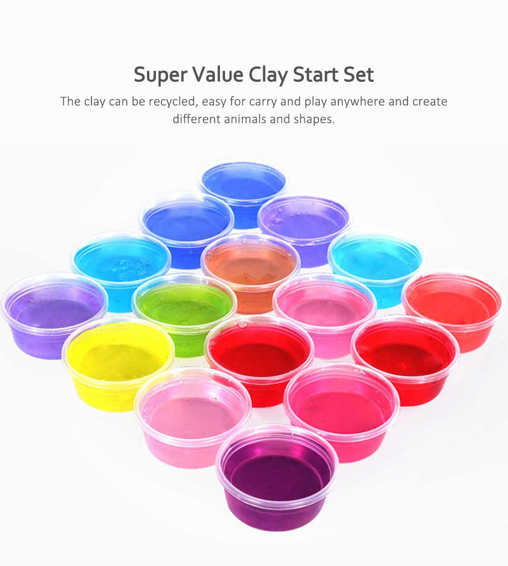 Colorful Non-toxic DIY Crystal Mud, Early Education Snowflake Mud (12,24,36colors) 2