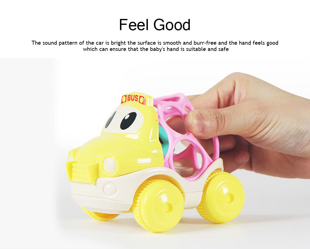 Baby Soft Rubber Inertia Toy Car, Rattle Car Toy for 6-12 Months Baby 4