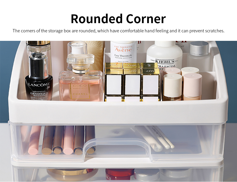 Drawer Type Makeup Organizer, Plastic Simple Cosmetic Holder Dormitory Commodity Shelf for Students 1
