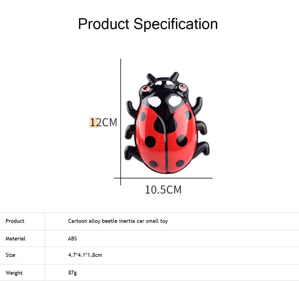 Children's Cartoon Alloy Beetle Inertia Car Small Toy, Creative Toy Car for Baby Over Three-years-old 6