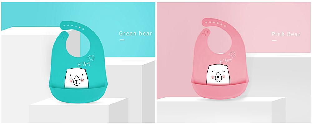 Best Baby Bibs For Eating, Wash-Free Silicone Baby Feeding Bib 2