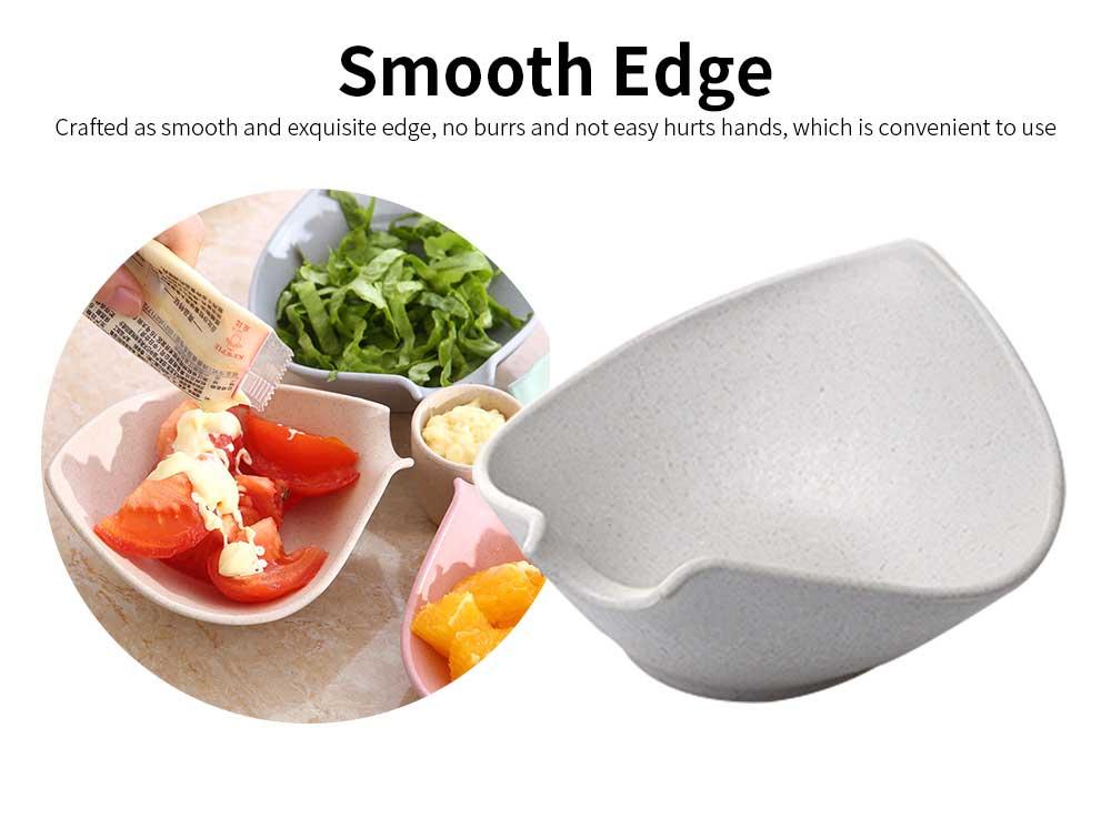 4 Bowl Relish Server, Service Bowl With Cup for Fruits, Snack, Dessert, Sauce, Vinegar Flavor Bowl 3