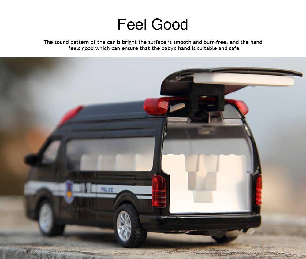 Simulation Children's Toy Car, Toy Ambulance, Police Car, Pull Back Car 3
