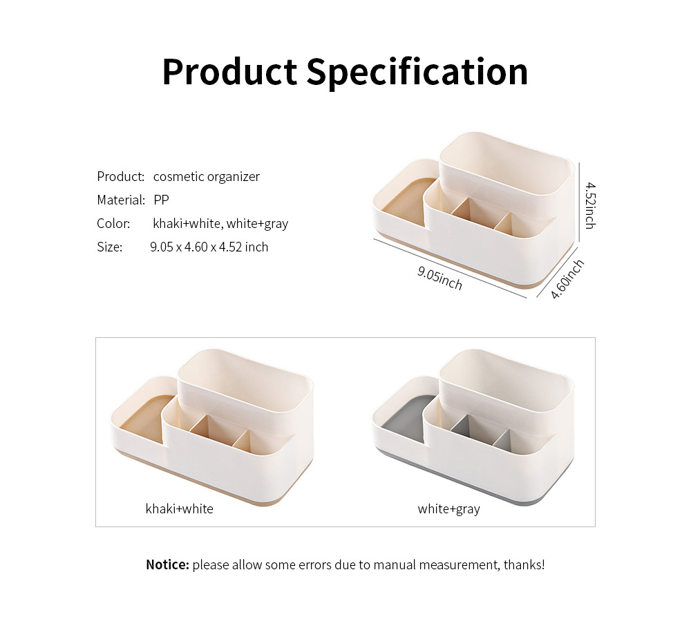 Plastic Storage Box Cosmetic Case, Best Makeup Organizer Box For Household Dormitory Desktop 6