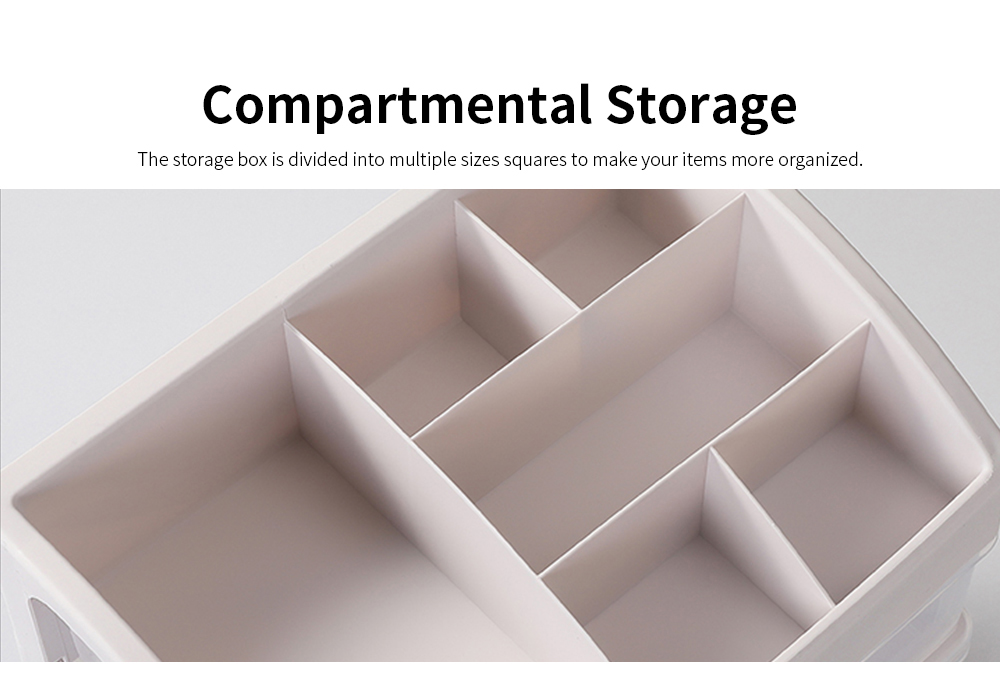 Drawer Type Makeup Organizer, Plastic Simple Cosmetic Holder Dormitory Commodity Shelf for Students 4