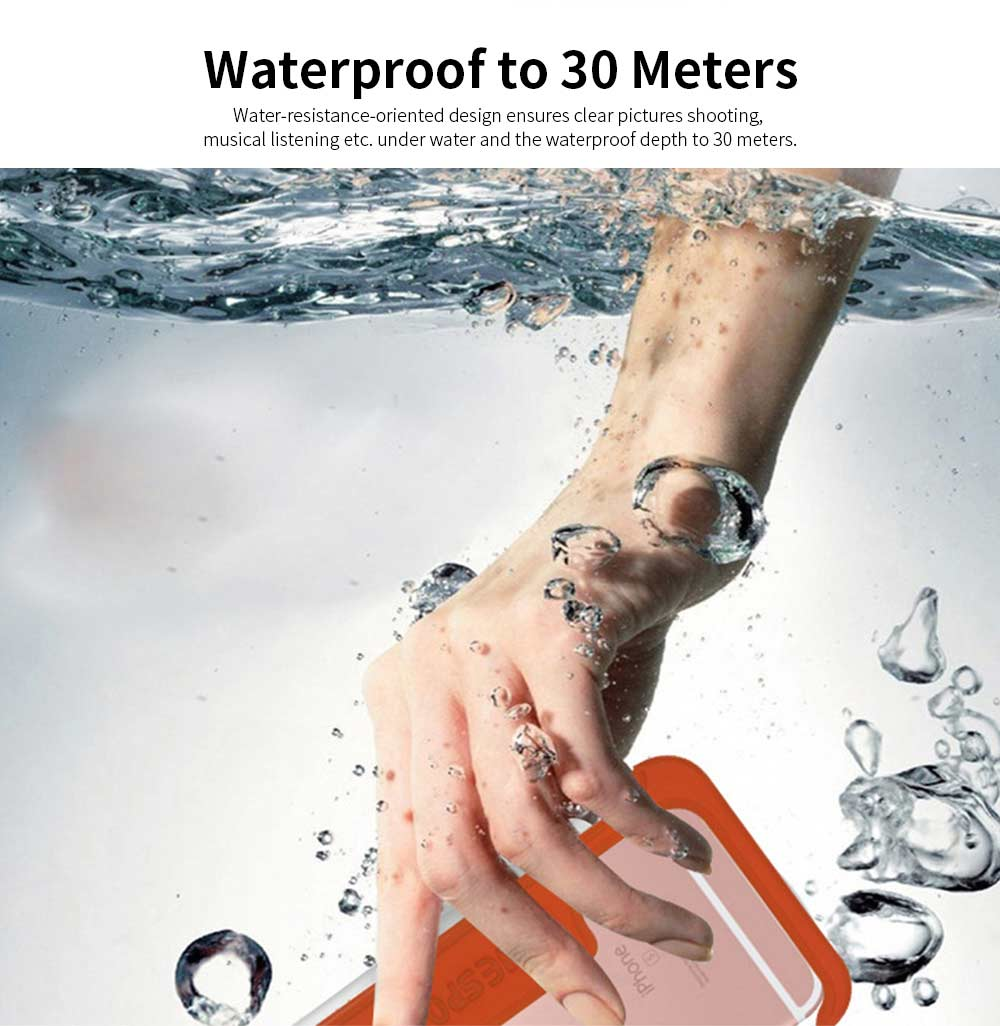 Waterproof Touch Screen Phone Case, Transparent Water Resistant Phone Case For Outdoor Activity 1