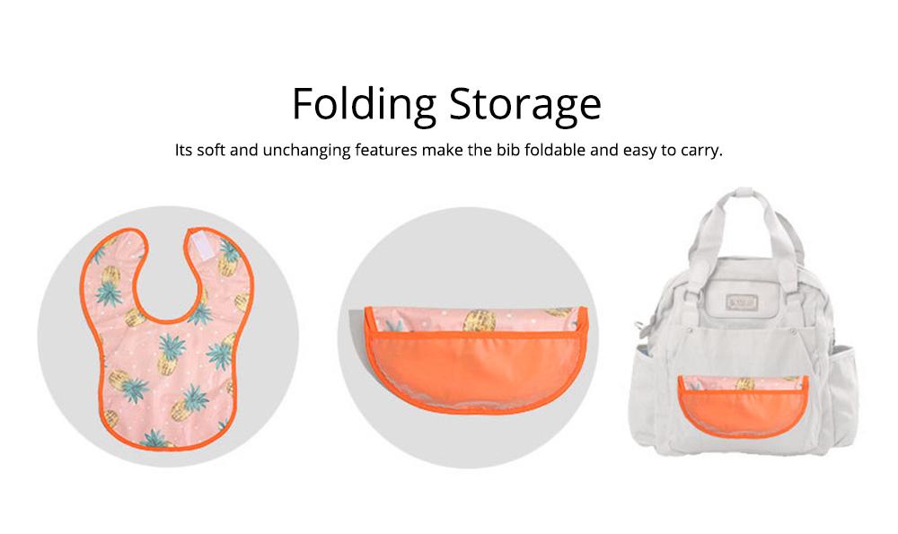Cotton Baby Eating Bib with Hidden Type Rice Bag, Eva Cartoon Waterproof Disposable Baby's Bib 5