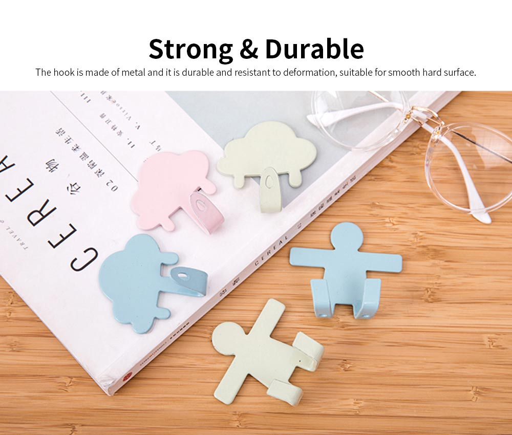 IN Creativity Glue Hook, Nail Free Super Strong Sticky Cute Hanger for Dormitory Wall Door Decoration Hanging Hook 1