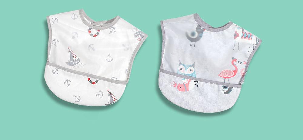 Cotton Baby Eating Bib with Hidden Type Rice Bag, Eva Cartoon Waterproof Disposable Baby's Bib 12